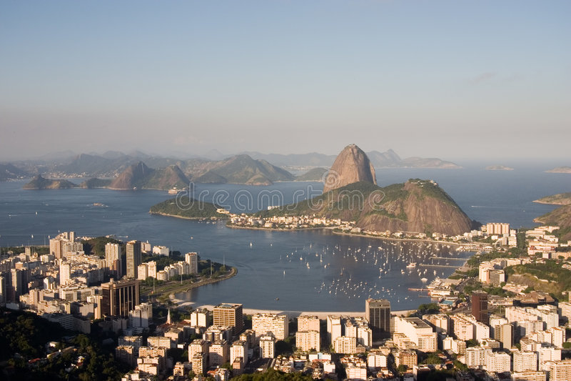 Rio de Janeiro, Baai Botafogo royalty-vrije stock foto
