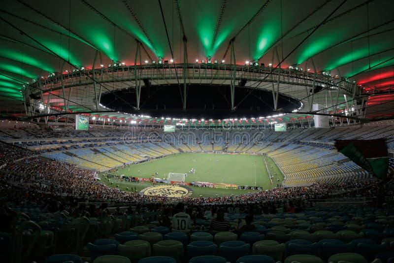 Rio de Janeiro, Brasile, Sudamerica, estate, 2014, Latino, notte, la gente, sport, sport, calcio, calcio, Worldcup, m. immagine stock libera da diritti