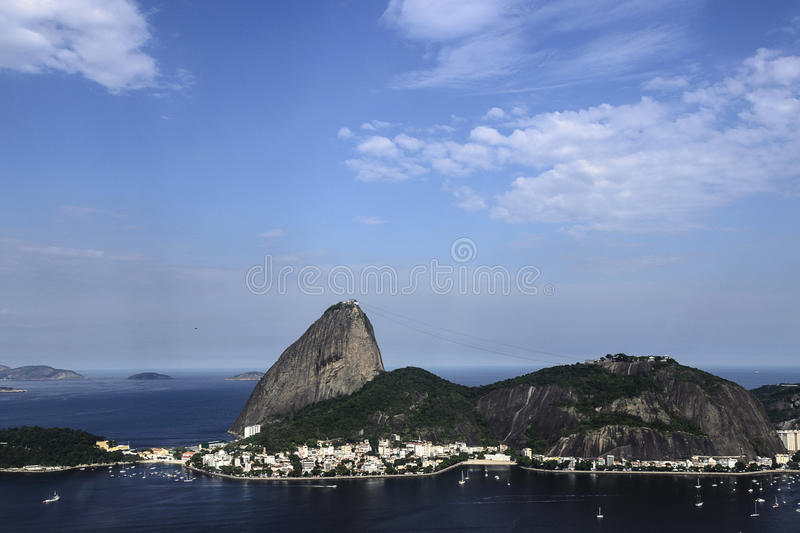 Rio de Janeiro Brazil. Sugar Loaf mountain, iconic symbol of Rio de Janeiro, and panoramic view of the city. Brazil stock photography
