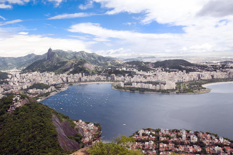 Rio de Janeiro, Brazil. Bays in Rio de Janeiro, Brazil, seen from the Sugarloaf royalty free stock photography