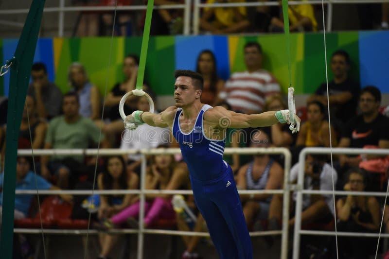 Athletes of artistic gymnastcs. Rio de Janeiro - Brazil, athletes of artistic gymnastics stock image