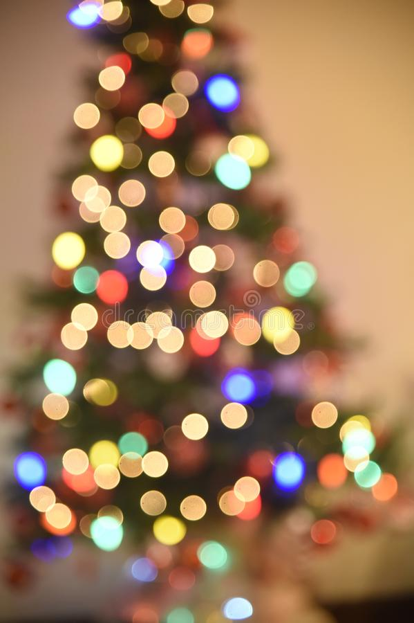Decoration of Christmas tree. Rio de Janeiro - Brazil, decoration of Christmas tree with deliberate blur, to give effect royalty free stock image