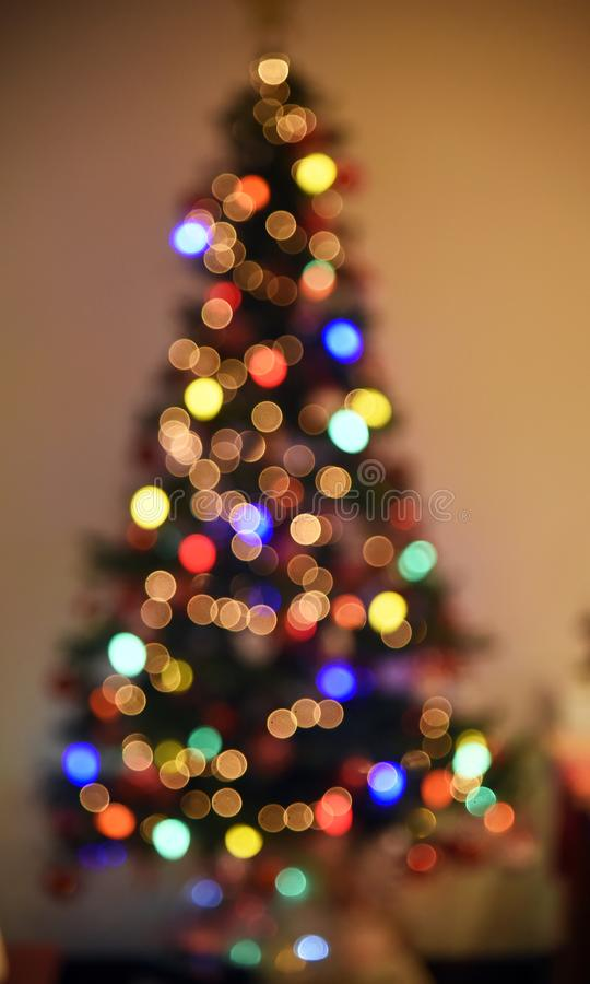 Decoration of Christmas tree. Rio de Janeiro - Brazil, decoration of Christmas tree with deliberate blur, to give effect royalty free stock photo