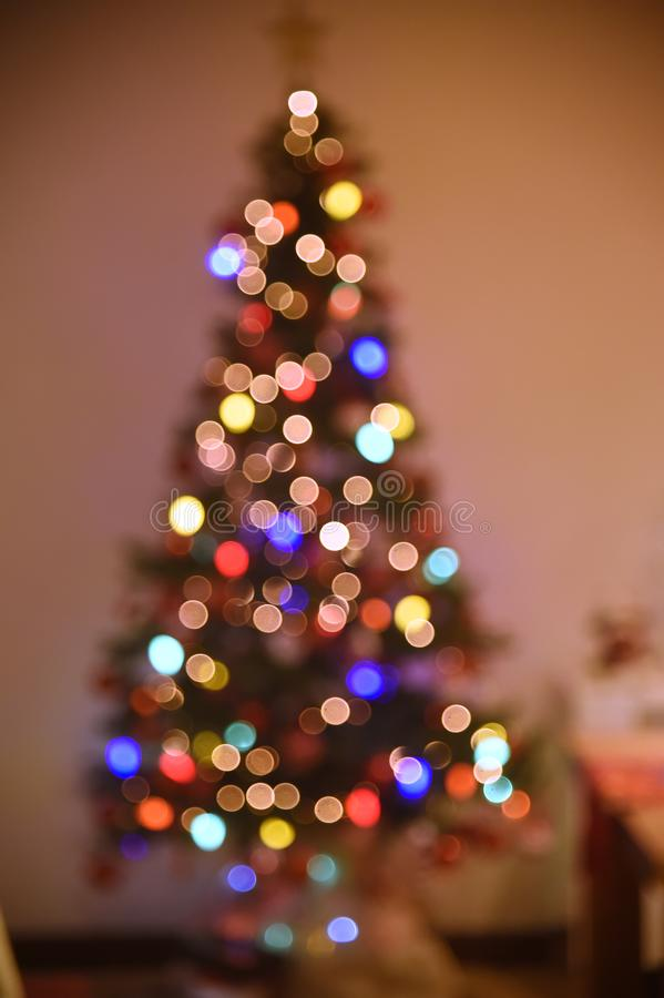 Decoration of Christmas tree. Rio de Janeiro - Brazil, decoration of Christmas tree with deliberate blur, to give effect stock photography