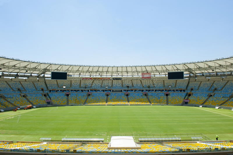 Rio de Janeiro. Brazil - January 12, 2015: Maracana Football Stadium stock photography