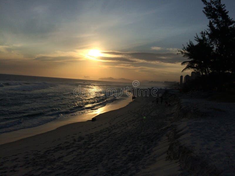Barra da Tijuca beach stock photography