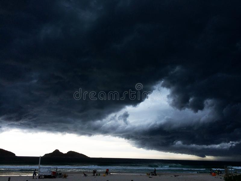 Storm on the beach royalty free stock image