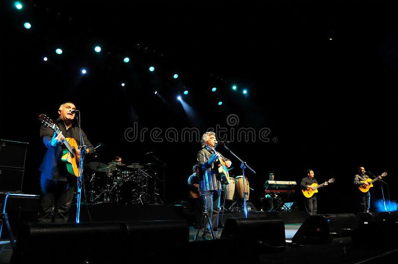 Gipsy Kings. Rio de Janeiro, Brazil, March 27, 2012. French band Gipsy Kings during a show at the HSBC arena in the city of Rio de Janeiro stock photography