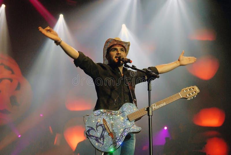 Luciano. Rio de Janeiro, Brazil, November 4, 2011. Singer Luciano, during a show at the HSBC Arena in the city of Rio de Janeiro royalty free stock photo
