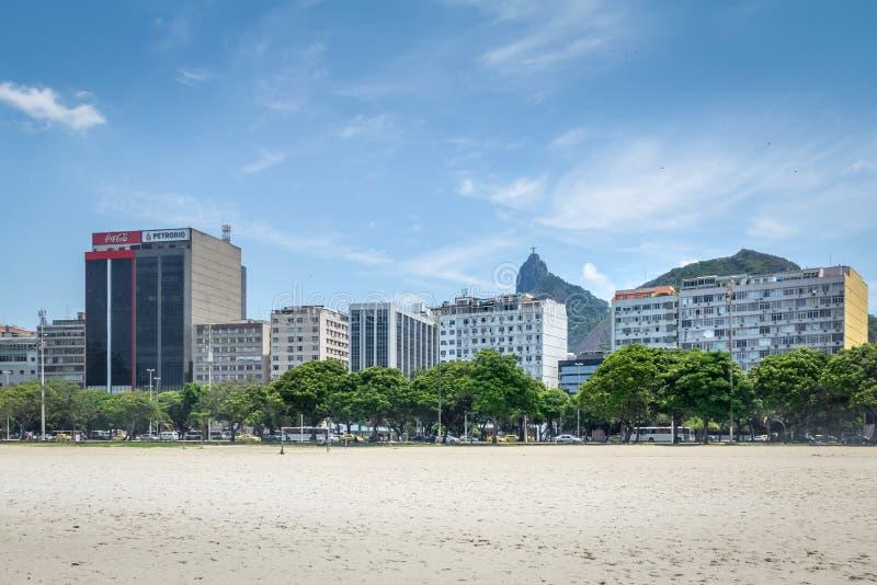 Botafogo skyline with Corcovado mountain and Christ on background - Rio de Janeiro, Brazil stock photos