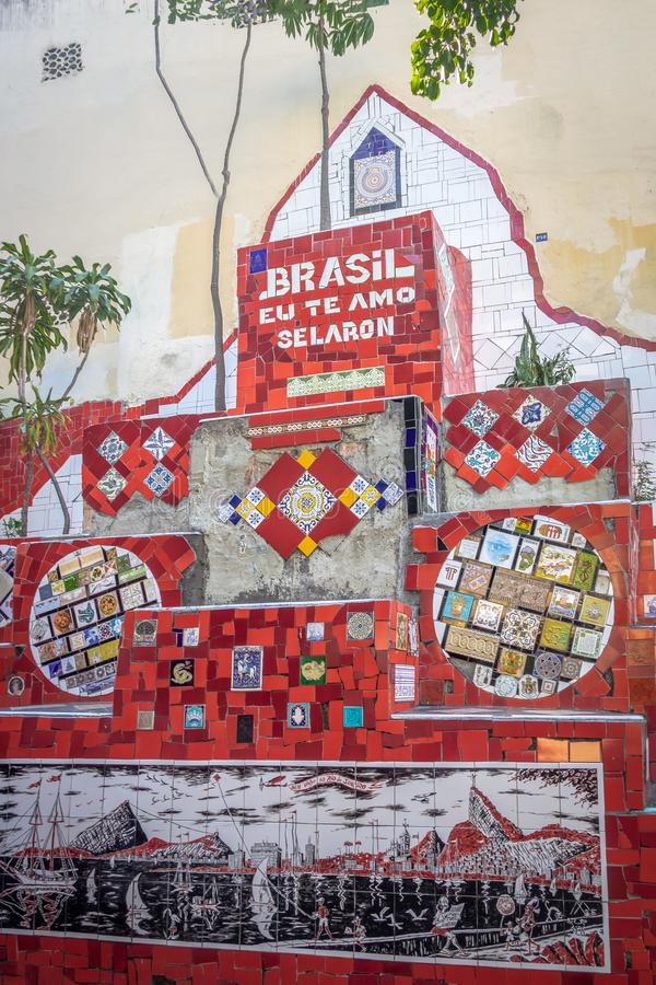 Escadaria Selaron Steps - Rio de Janeiro, Brazil royalty free stock photo