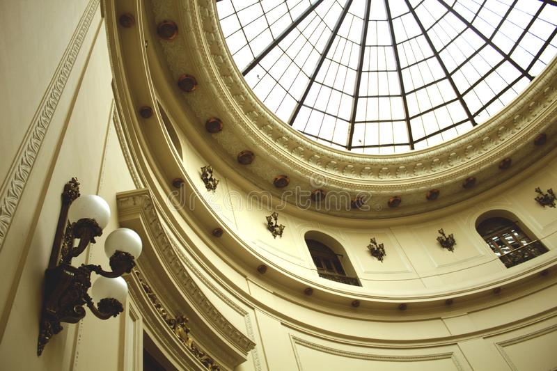 Rio de Janeiro, Brazil, October 12, 2018: Internal view of the building of the CCBB - Centro Cultural Banco do Brasil, in downtown royalty free stock photography