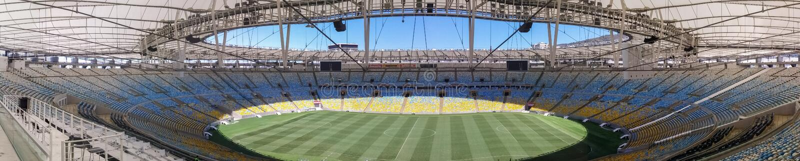 Panoramic view of the Maracana Stadium, a soccer stadium in Rio de Janeiro royalty free stock image