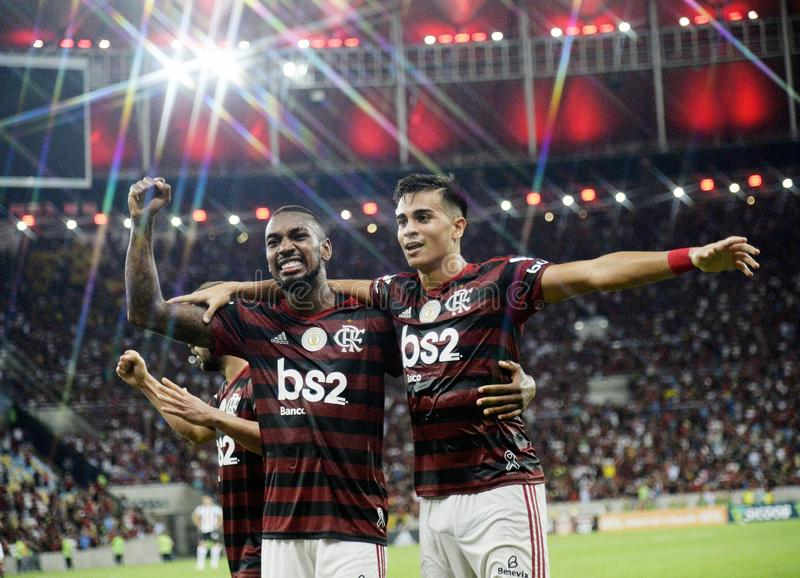 Player Reinier do Flamengo celebrates his goa royalty free stock photos