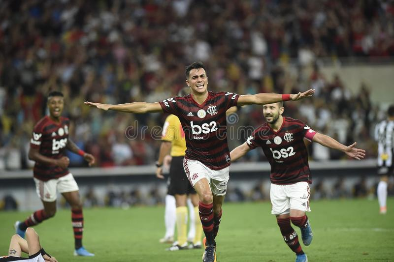 Player Reinier do Flamengo celebrates his goa royalty free stock photo