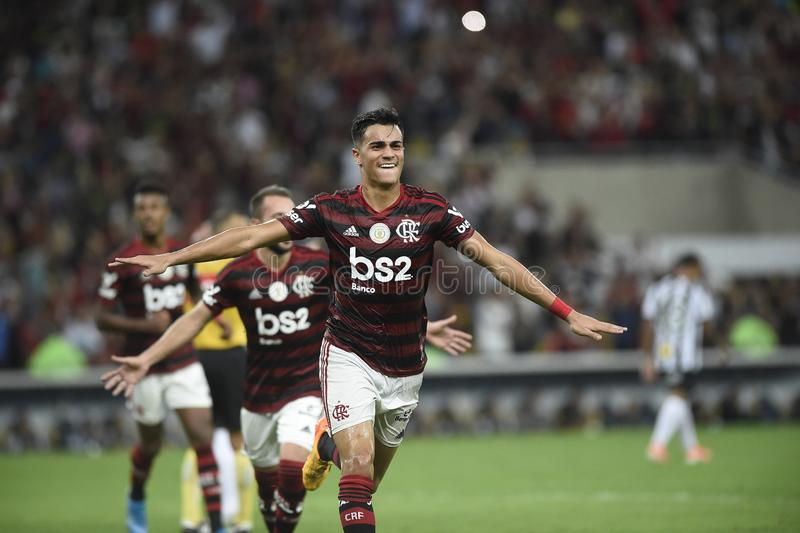 Player Reinier do Flamengo celebrates his goa stock images