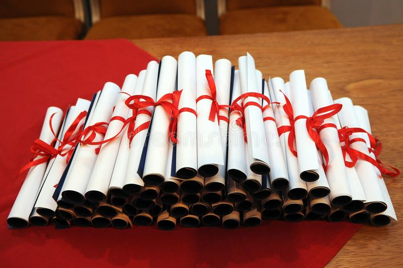Diplomas royalty free stock photos