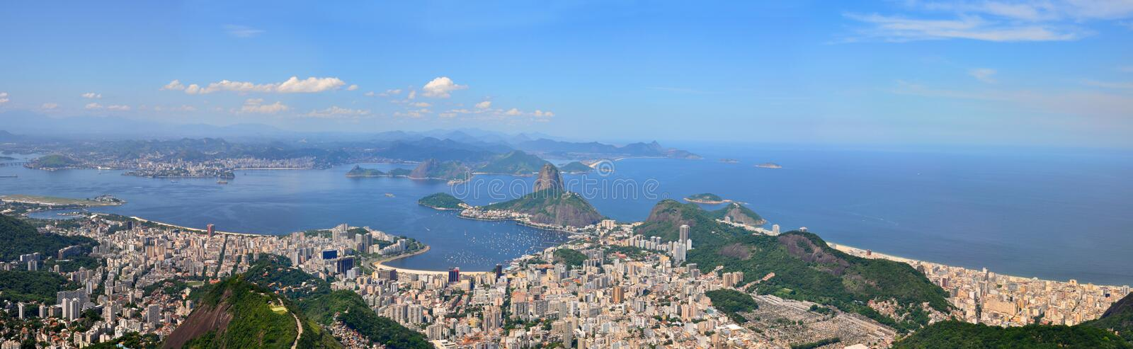 Rio de Janeiro, Brazil. Suggar Loaf viewed from Corcovado. stock image