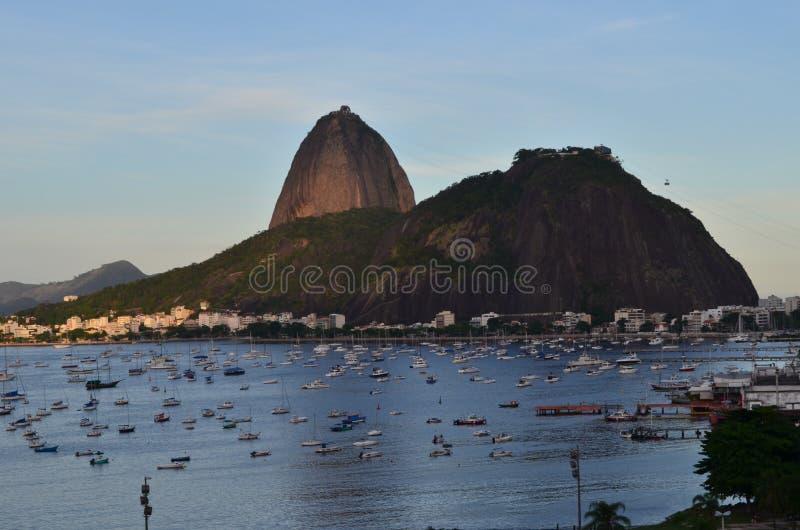 Rio de Janeiro, Brazilië De Berg van Sugarloaf stock afbeeldingen