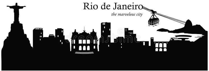 Rio De Janeiro, Brazylia royalty ilustracja