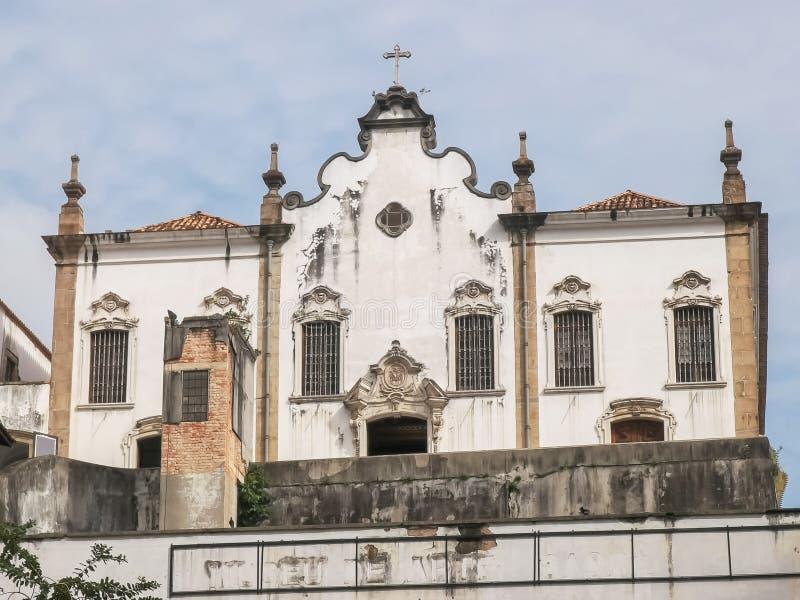 RIO DE JANEIRO, BRAZYLIA 25, MAJ, 2016: zewnętrzny widok klasztor świątobliwy Anthony w Rio zdjęcie royalty free