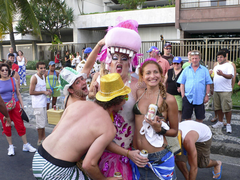 Rio de Janeiro Carnival royaltyfri fotografi