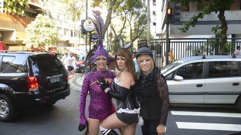 Rio de Janeiro Carnival royaltyfria bilder