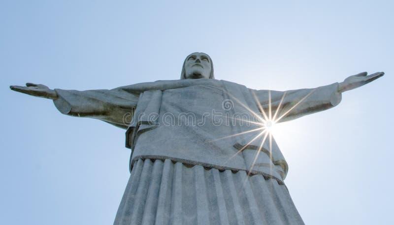 Rio de Janeiro, Christus het Reedemer-standbeeld, Corcovado, Brazilië royalty-vrije stock foto's