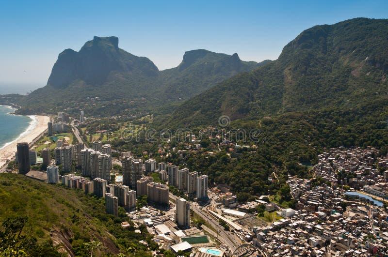 Rio de Janeiro Coast with Mountains stock image