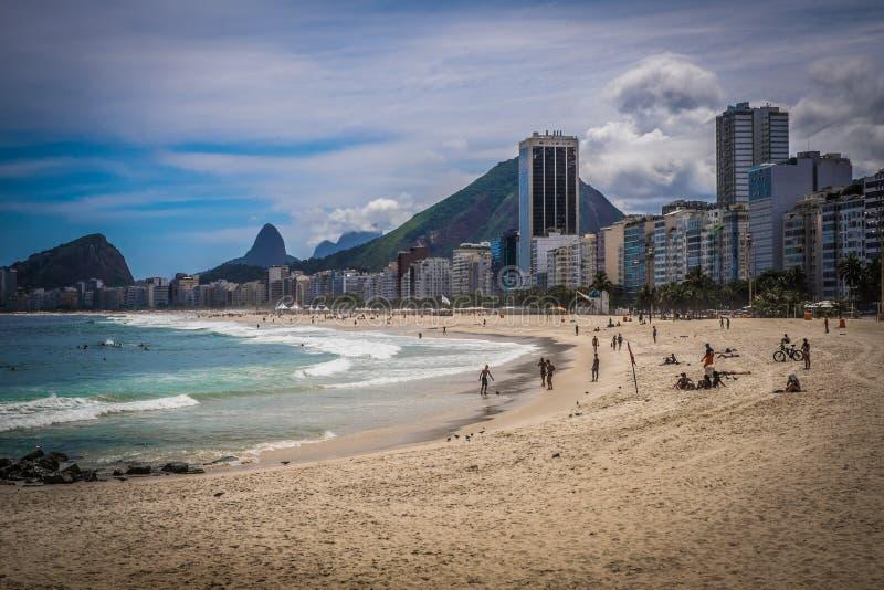 Rio de Janeiro Copacabana arkivbild