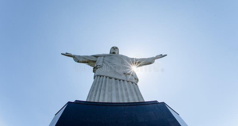 Rio de janeiro, Cristo a estátua de Reedemer, Corcovado, Brasil imagens de stock
