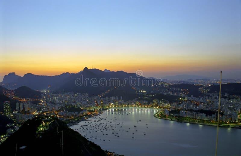 Rio de Janeiro at dawn royalty free stock photography