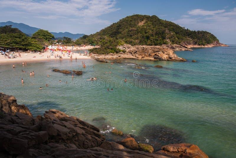 Rio de Janeiro de plage de Trindade photographie stock