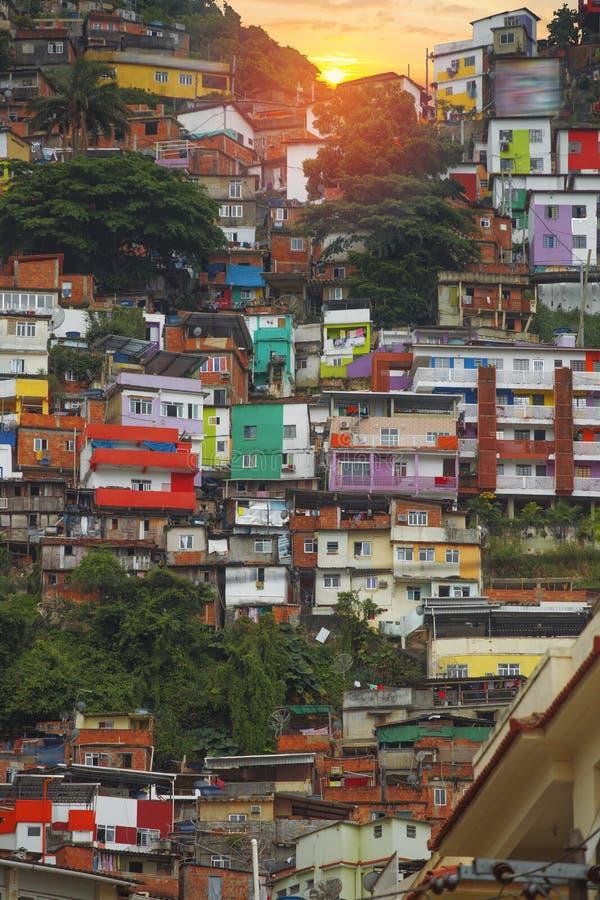 Rio de Janeiro downtown and favela royalty free stock photos