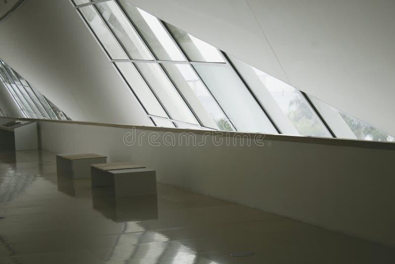 Rio de Janeiro, el Brasil 5 de agosto de 2018 Interior del museo de la mañana en el cuadrado de Maua Diseñado por el arquitecto S imagenes de archivo