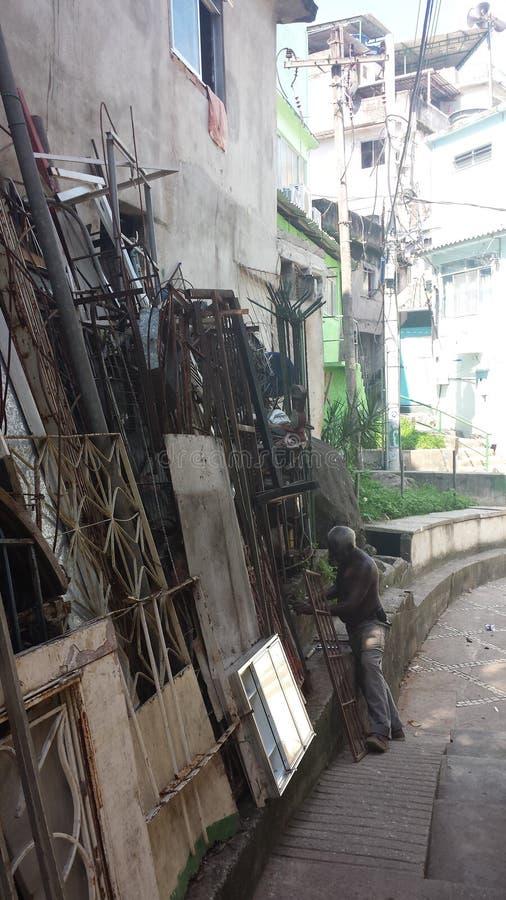 Rio De Janeiro favela Brasilien royaltyfri bild