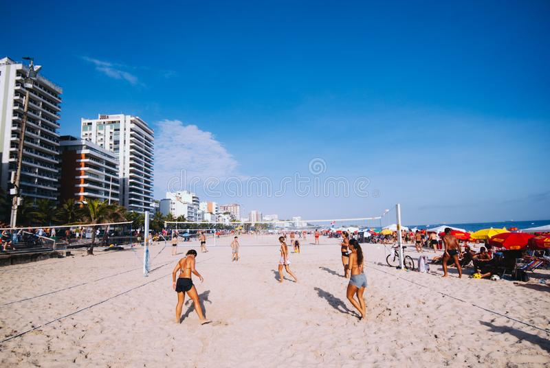 Ipanema's Beach, Rio de Janeiro, Brazil stock images