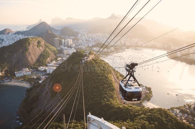 Rio de Janeiro från Sugar Loaf royaltyfri fotografi