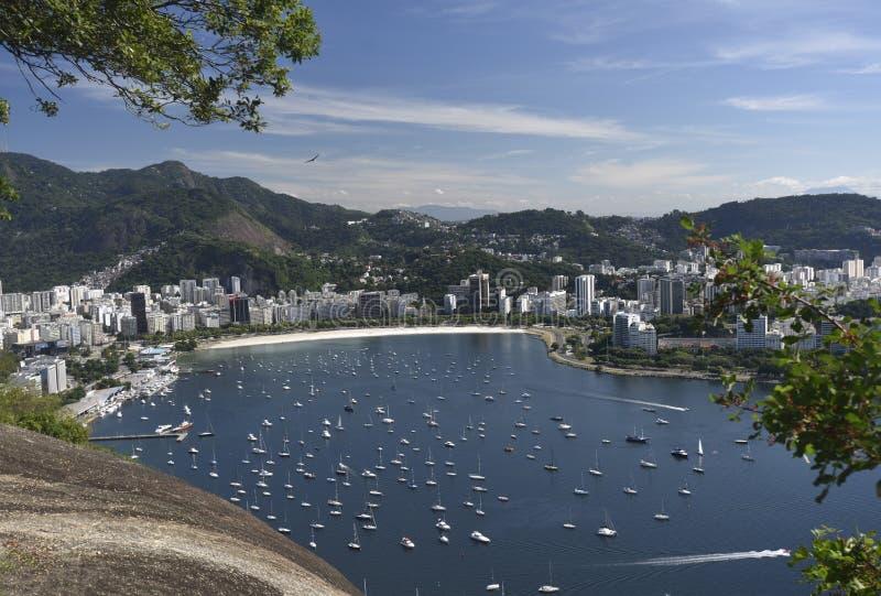 Rio de Janeiro - Guanabara fjärd royaltyfria foton