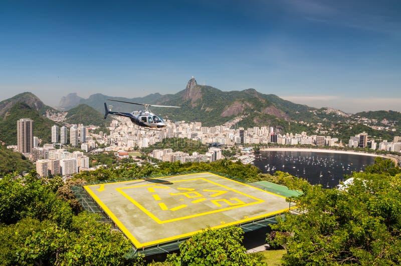 Rio de Janeiro Helicopter Tour fotos de archivo