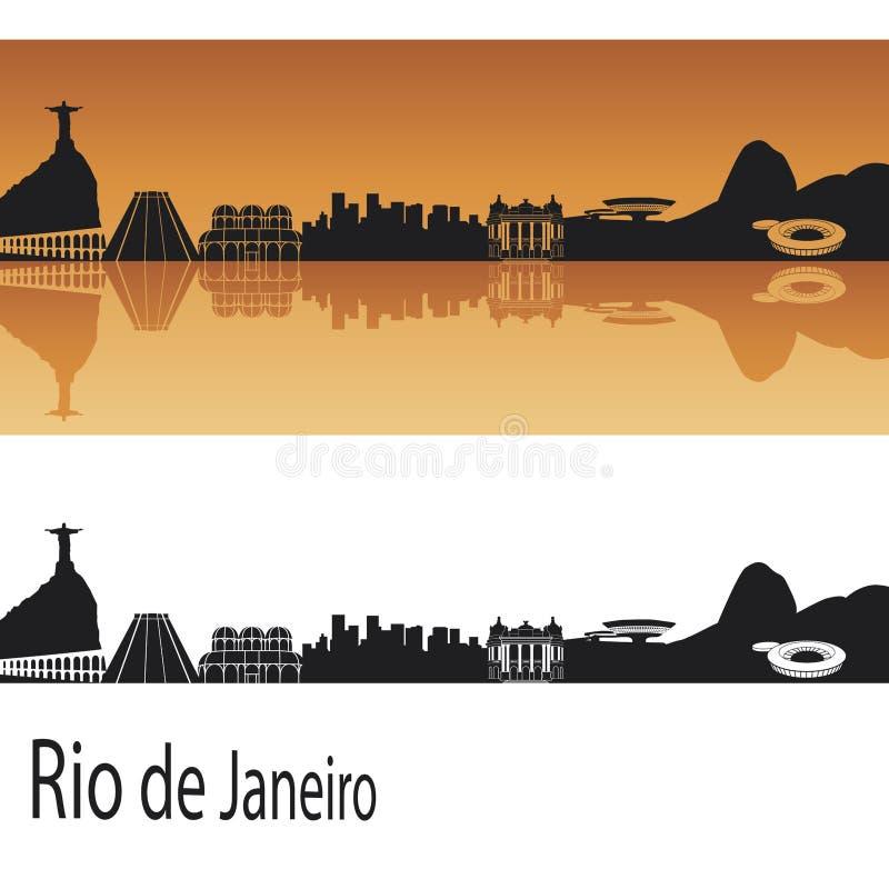 Rio de Janeiro horisont stock illustrationer