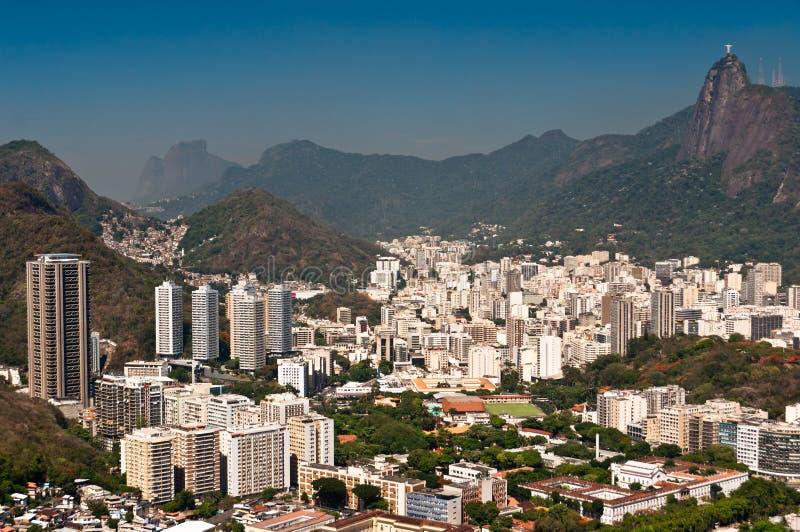 Rio de Janeiro horisont royaltyfri fotografi