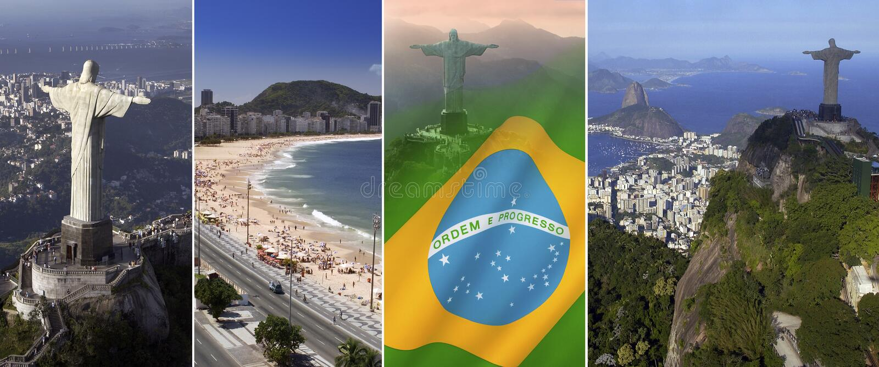 Rio de Janeiro - il Brasile - il Sudamerica fotografia stock libera da diritti
