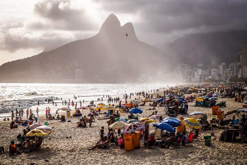 Rio de Janeiro Ipanema fotografering för bildbyråer
