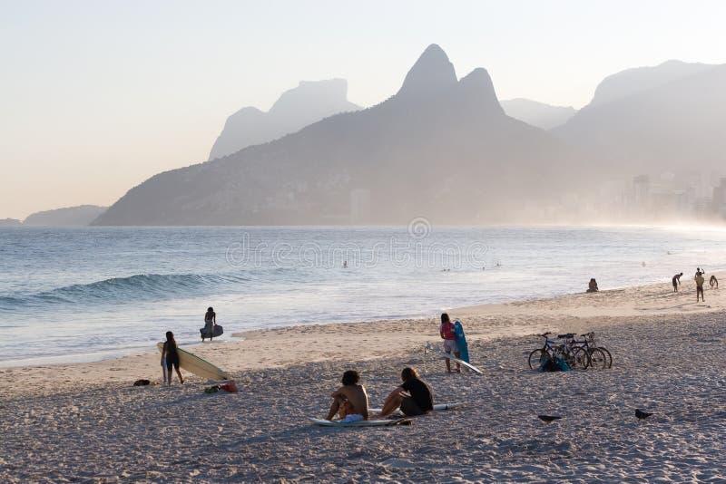 Rio de janeiro, Ipanema beach stock photos