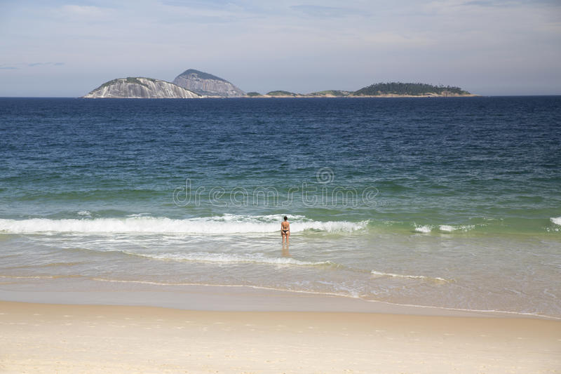 Rio de Janeiro Ipanema Beach Brazil royalty-vrije stock afbeeldingen