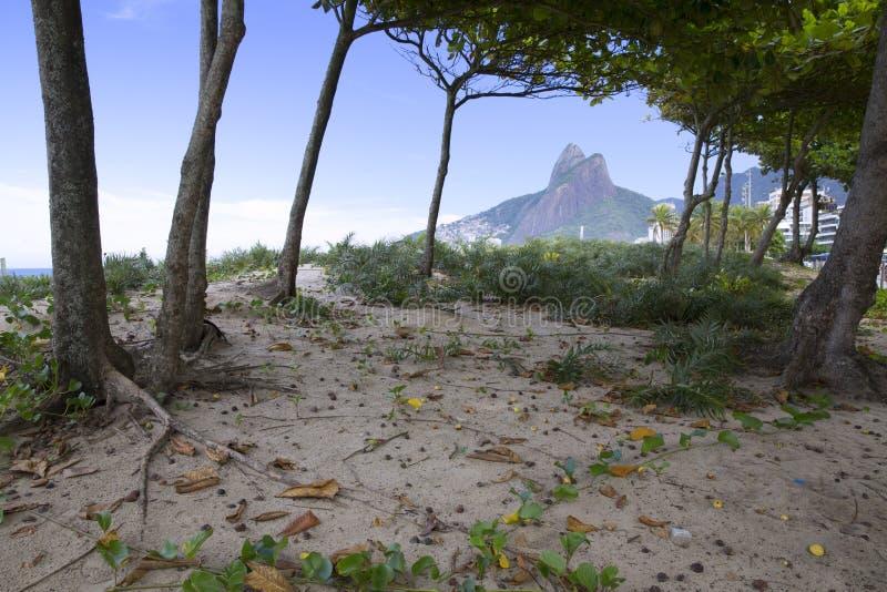 Rio de Janeiro Ipanema Beach Brazil arkivfoton
