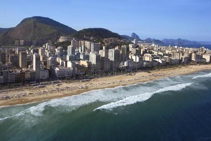 Rio de Janeiro - Ipanema strand - Brasilien arkivbild