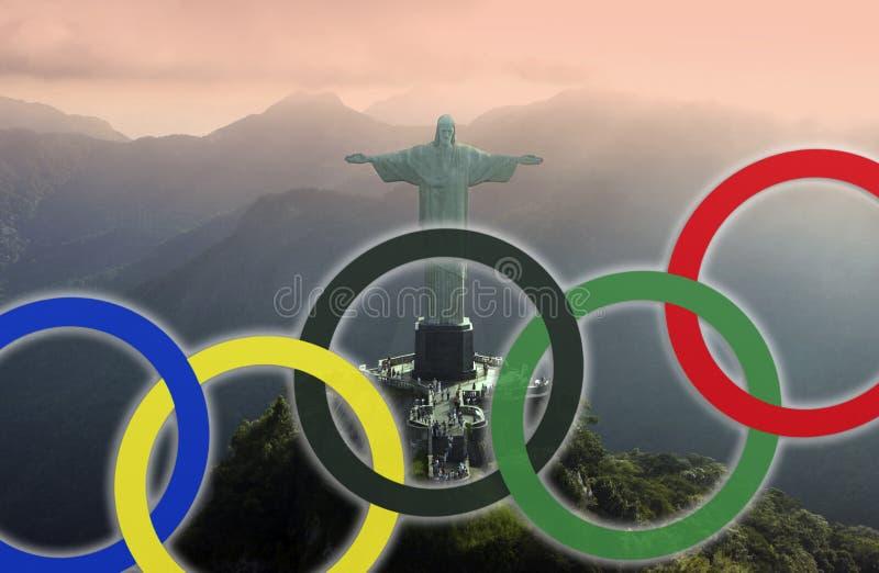 Rio de janeiro - Jogos Olímpicos 2016 foto de stock