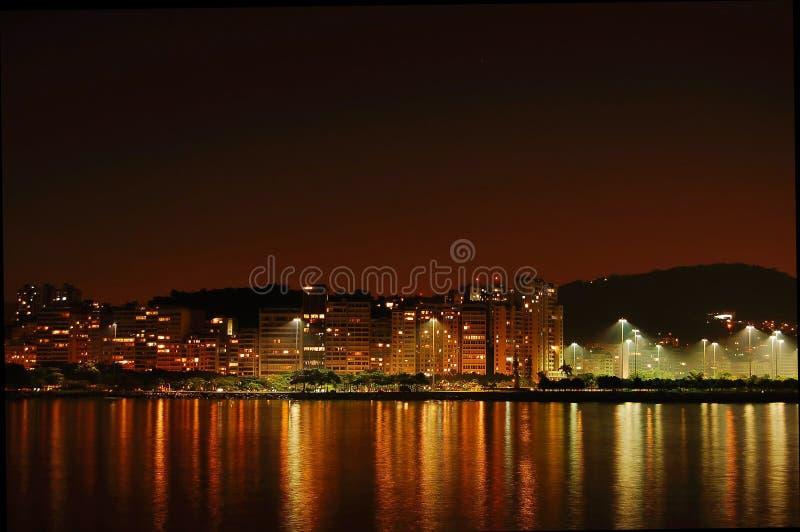 Rio de Janeiro la nuit image stock